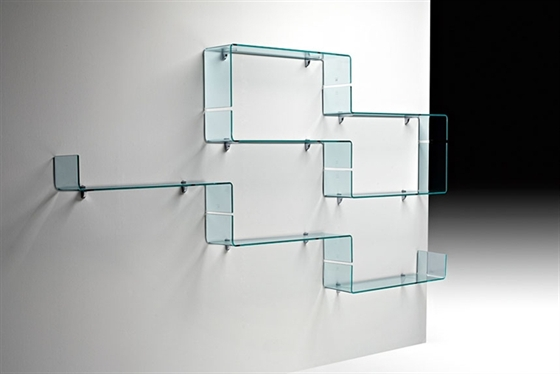 Glass Shelf Brackets As Decorative Shelves
