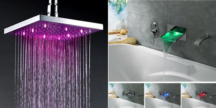 Color Changing LED Hand Shower For Bathroom Decoration