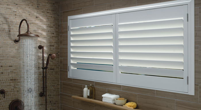Plantation Shutters For Bathroom and Kitchen Windows