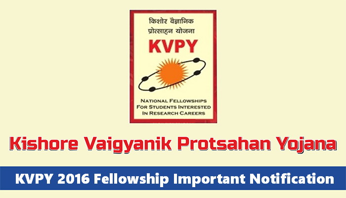 Kishore VaigyanikProtsahanYojana Fellowship Exam