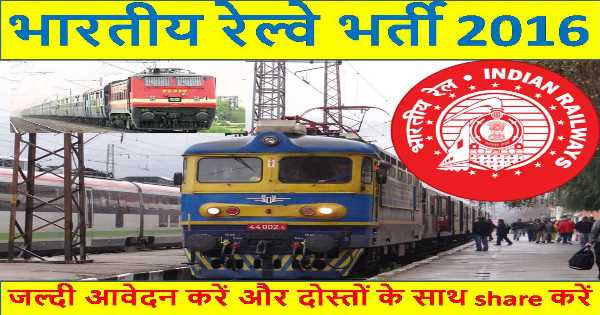 Get Notify About Indian Railway Latest Jobs 2016